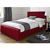 Snug City Single Red Upholstered Bed Frame Knightsbridge Design Made In the UK