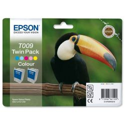 Epson T009 (Twin Pack) Five Colour Ink Cartridge (Cyan/Light CyanMagenta /Light Magenta/Yellow/Black) for Stylus Photo 1270 Printer