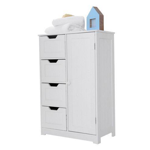 Bathroom freestanding cabinets white