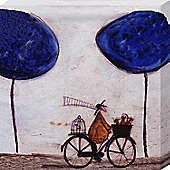 Sam Toft Freewheelin with Joyce Greenfields Canvas Print