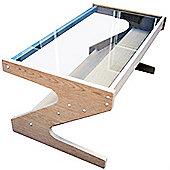Z - Glass Coffee Table / Tv Unit - White Oak