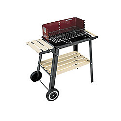 Landman Wagon Charcoal BBQ, Red