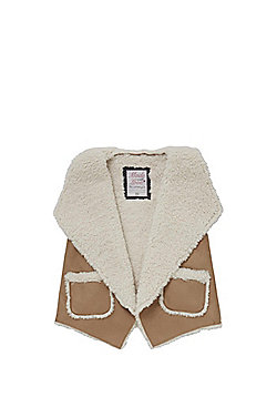 F&F Faux Shearling Gilet - Camel