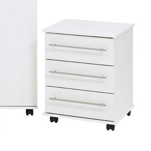 Ideal Furniture Bobby 3 Drawer Chest - White