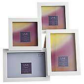 Tesco Coloured Photo Frame White 4 Aperture