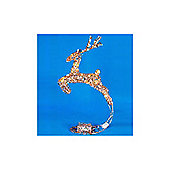 Battery Operated 18in Leaping Sequin Deer with Glitter & 10 Warm White LEDs