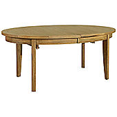 Kelburn Furniture Loire Oval Extending Table in Light Oak Stain and Satin Lacquer