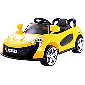 Kids Super Sports Ride On Car With Remote Control - Yellow