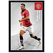 Manchester United Football Club Black Wooden Framed Ryan Giggs MUFC Poster