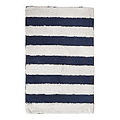 Linea Nautical Stripe Bathmat In Blue