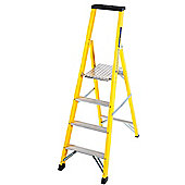 Trade 4 Tread GRP Fibreglass Platform Step Ladder