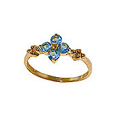 QP Jewellers 0.58ct Blue Topaz Ring in 14K Gold