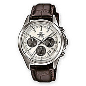 Casio Mens Leather Chronograph Date Watch EFR-527L-7AVUEF