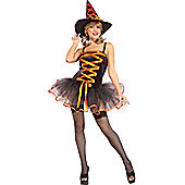 Orange Ballerina Witch Costume