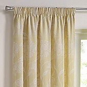 Julian Charles Freya Lemon Luxury Pencil Pleat Jacquard Curtains -168cm x229cm