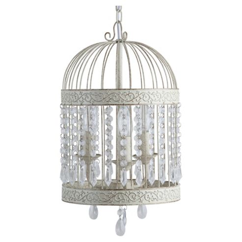 Tesco Lighting Birdcage Chandelier Antique Cream