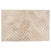 Tesco Embossed Bath Mat Cream