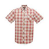 Regatta Mens Deakin Short Sleeve Shirt - Red
