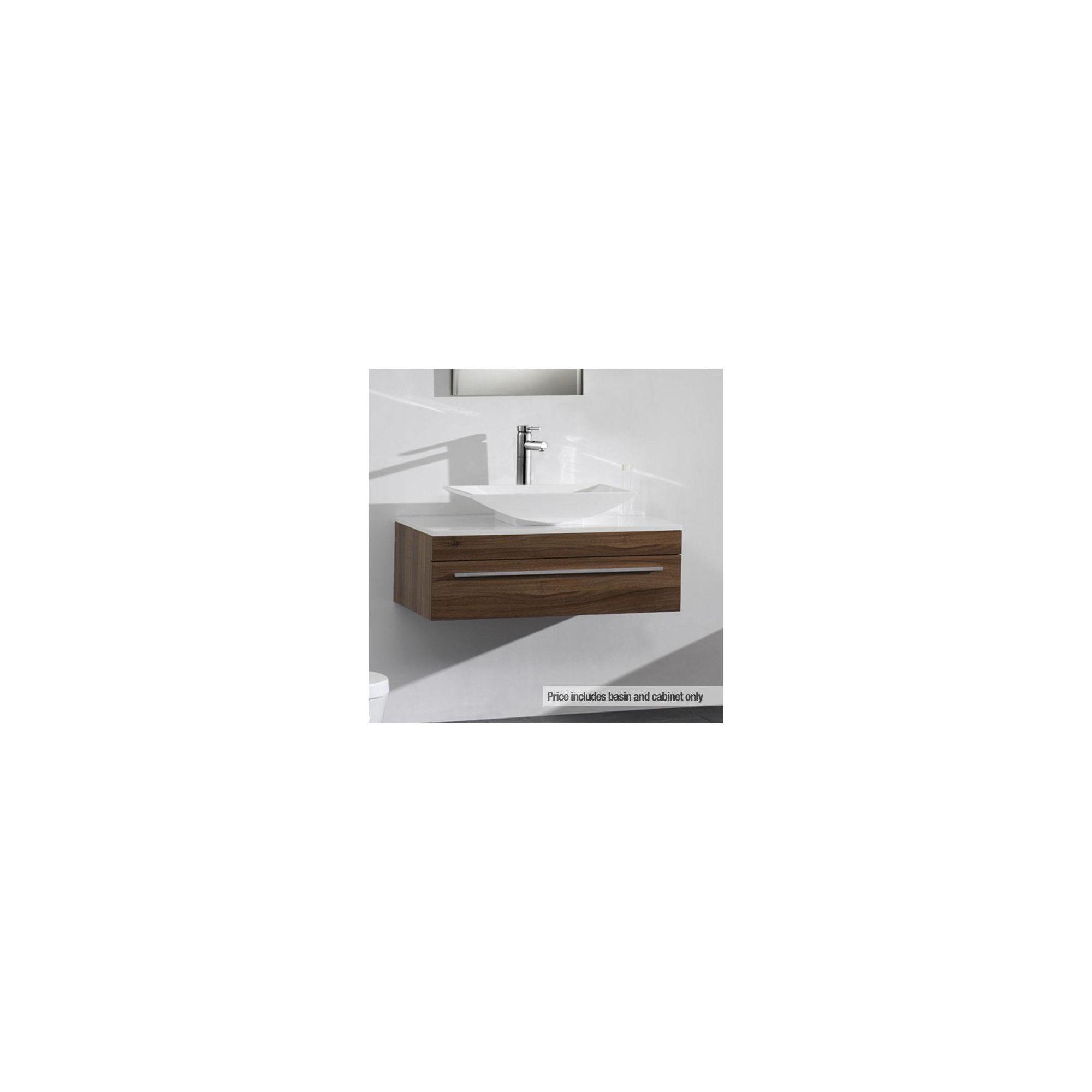 Ultra Equity Walnut Wall Mounted Unit with Basin