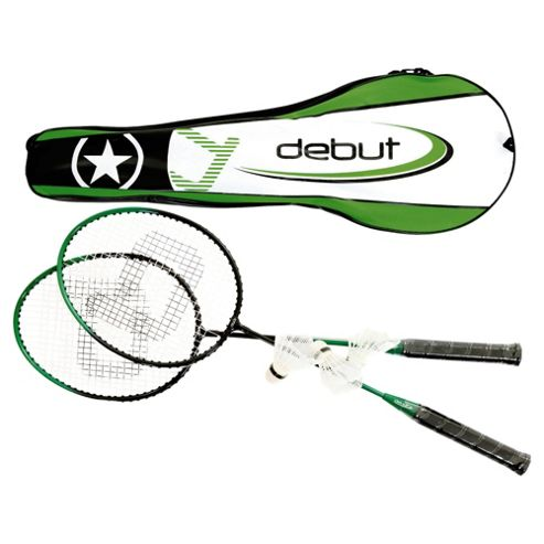 Debut Badminton Set with Shuttlecocks and Carry Bag