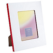 Tesco 2 Tone Photo Frame White/Red 5 x 7""