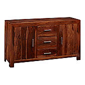 Indian Hub Cube Sheesham 135cm Sideboard