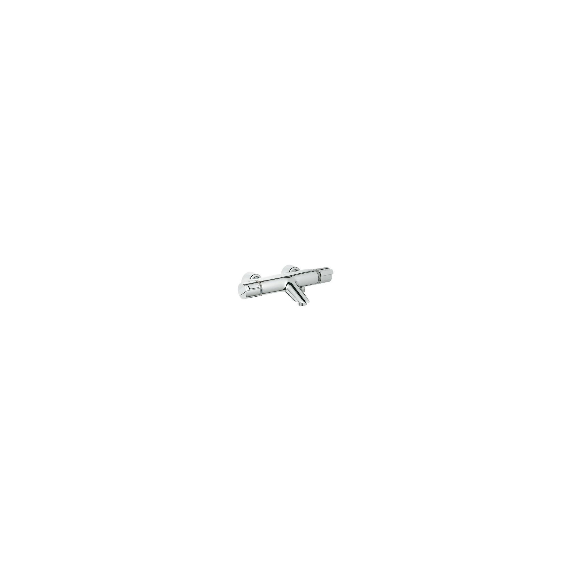 Grohe Grohtherm 2000 Thermostatic Bath Shower Mixer Tap, Wall Mounted, Chrome at Tescos Direct