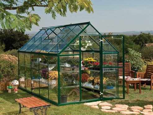 Palram Harmony 6x10 - green greenhouse - Polycarbonate and aluminium frame