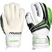 Reusch Re:Ceptor Sg Finger Support Junior Goalkeeper Gloves - Green