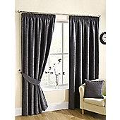 Ribeiro Chenille Pencil Pleat Curtains - Pewter