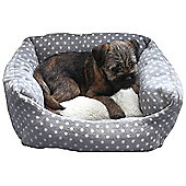 Rosewood Pet Products 40 Winks Spot Dog Bed in Grey/Cream