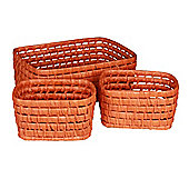 Eightmood 3 Pieces Picnic Basket Set - Orange