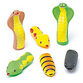 Snake Finger Puppets for Kid's Themed Party Bags,Toys & Prizes (Pack of 6)