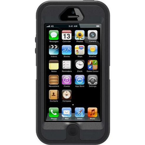 OTTERBOX - USD - OTTERBOX DEFENDER F NEW IPHONE5 - FOR APPLE IPHONE 5 BLACK
