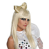 Fancy Dress - Lady Gaga Blonde Bow Clip - Rubies