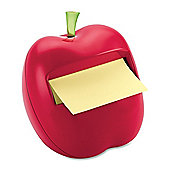 Novelty Red Apple-Shaped Post It Dispenser