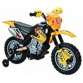 Kids 6V Dirt Bike Style Ride On Bike - Yellow