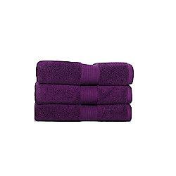 Hotel 750gsm Pima Cotton guest towel damson 40x65cm