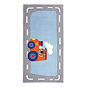 Esprit Happy Street Traffic Light Blue Tufted Rug - 70 cm x 140 cm (2 ft 3.5 in x 4 ft 7 in)