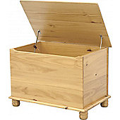 Sol Blanket/Toy Box - Solid Pine - Antique Finish - Storage/Cupboard/Box