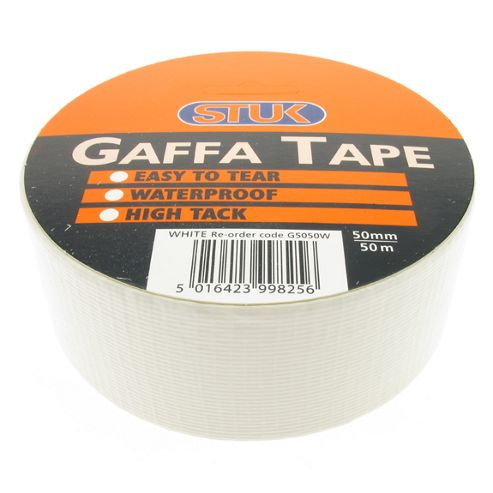 Gaffa Tape White 50mm x 50m