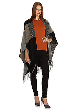 F&F Colour Block Fringed Wrap - Multi