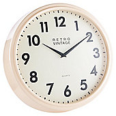 Tesco Cream Deep Case Station Wall Clock Dia. 40cm