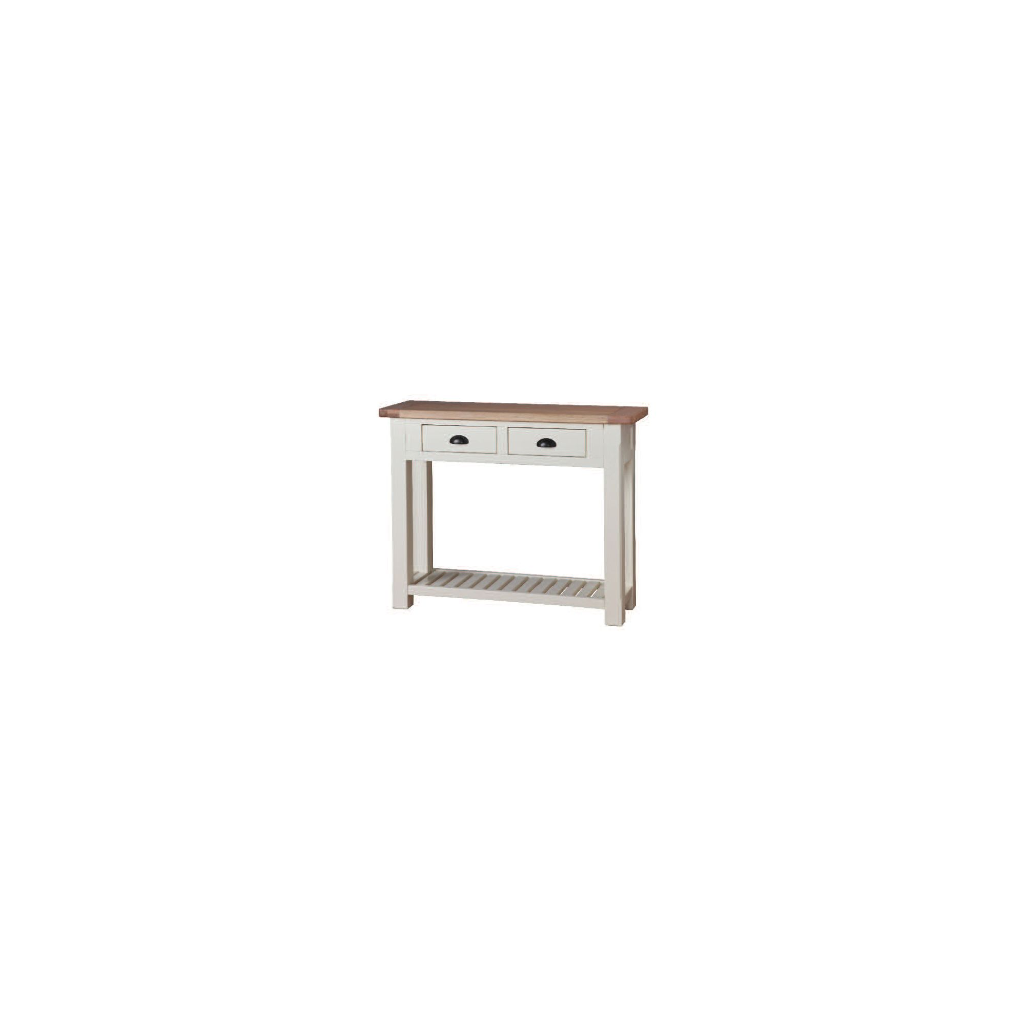 Wilkinson Furniture Buttermere Two Drawer Console Table in Ivory
