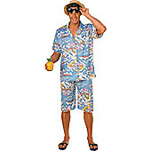 Hawaiian Man - Adult Costume Size: 40-44
