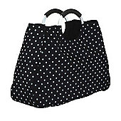 Coolmovers Reusable Black Polka Dot Shopping Bag, 17 Litre