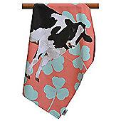 Leslie Gerry Friesian Cow Design Tea Towel