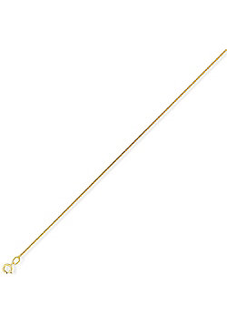 9ct Gold Diamond-Cut Tightly-linked Curb Chain - 0.9mm gauge