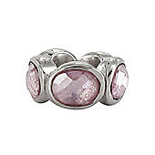 Chrysalis Pink CZ Silver Slide On Spacer