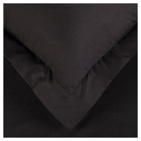 Tesco Twin Pack Oxford Pillowcase Black